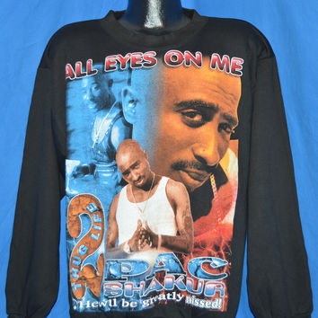 90s Tupac All Eyes on Me Stop the Violence Sweatshirt XL