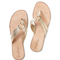 Lilly Pulitzer McKim Leather Sandal