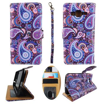 Wallet Case for Samsung Galaxy J3 Phone PU Leather Standing Flip Cover