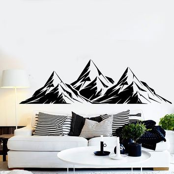 Vinyl Wall Decal Mountains Room Decoration Home Art Stickers Unique Gift (ig3679)
