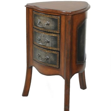 Ultimate Accents Drummond Triangular 3 Drawer End Table