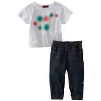 7 For All Mankind Baby Girls' 2 Piece Denim Set
