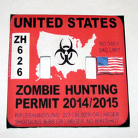 Double Light Switch Cover - Light Switch Plate Zombie Hunting Permit