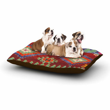 "S Seema Z ""TAPESTRY ETHNIC"" Red Pattern Dog Bed"