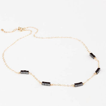 Choker Necklace • Choker Bead Necklace • Black Choker for Women • Hematite Necklace • Hematite Choker • Dainty Choker Necklace • 0285NM