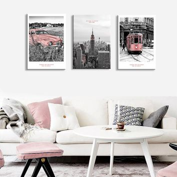 New York Bus Landscape Wall Art Canvas Painting Nordic Posters And Prints Wall Pictures For Living Room Home Decor