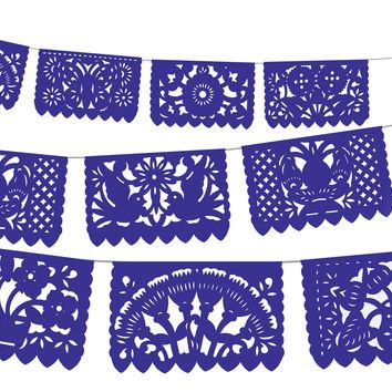 5 PACK, Papel Picado, banners, tissue paper garland, fiesta party supplies, 60 Ft Long, MEDIUM banners, WS2030