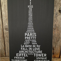 Paris EIFFEL TOWER subway art family home decor sign wall hanging LOVE
