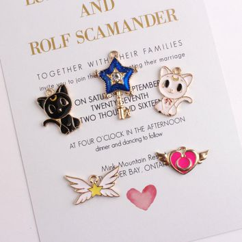 20pcs sailor moon cat Pendant alloy star Charms For Necklace Dangle Charm For Bracelet charm jewelry findings