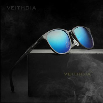 Veithdia 2017 New Brand Round Aluminum Alloy Frame HD Polarized Sunglasses Men Driving Glasses Goggles Eyeglasses 6680