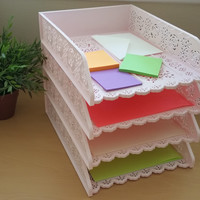 Desk Organizer- A4 Paper Tray - Pack of 4