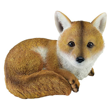 Park Avenue Collection Diablo The Baby Red Fox Statue