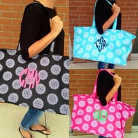 THE LARUE MONOGRAMMED ULTIMATE TOTE