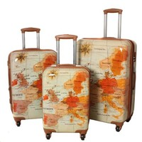 The Euro 3 Piece Luggage Set