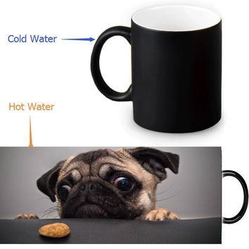 Pet Love Dog Mug  who can help me - changing color magic coffee mugs cup best gift for your friends or yourself
