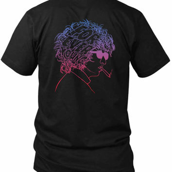 Bob Dylan Forever Young 2 Sided Black Mens T Shirt