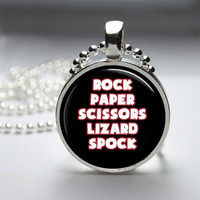 Photo Art Glass Bezel Pendant Big Bang Theory Necklace