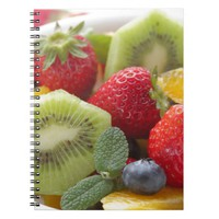 FRESH fruits salad in bowl Spiral Note Book