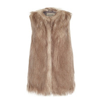 River Island Womens Silver sleeveless faux fur vest