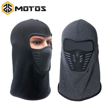 ZS MOTOS Winter Warm Full Face Cover Thermal Fleece Lined Windproof Anti Dust Ski Mask Balaclava Hood Rubber Breathable Vent