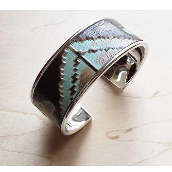 Turquoise Navajo Leather Cuff