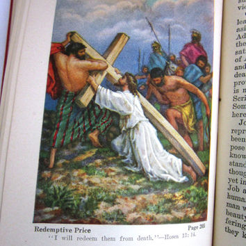 Vintage Religious Bible Stories, Life Book by JF Rutherford 1929, Crucifixion, Easter, Jehovah Witness, Watch Tower publication,