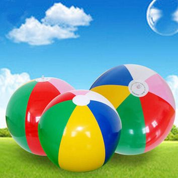Hot New Colored Inflatable 40cm Beach Ball Balloons Swimming Pool Play Water Party Game Sport Fun Adult Kids Toys Summer Gifts