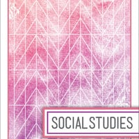 Back to School! Watercolor Binder Dividers - Social Studies Class
