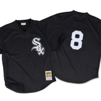 VON3TL Mitchell Ness Bo Jackson 1993 Authentic Mesh BP Jersey Chicago White Sox In Black