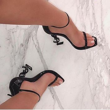 YSL Saint Laurent Opyum Sandals High Heels Shoes