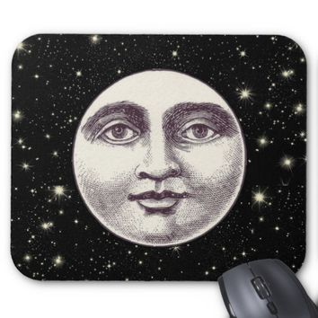 Victorian man in the moon mouse pad