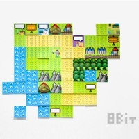 8-Bit Game Map Sticky Note