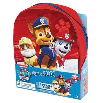 DCCKX8J Paw Patrol 3-pk. Carry & Go Puzzle Pack by Cardinal