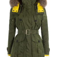Burberry London - Chevrington Parka with Fur Trim