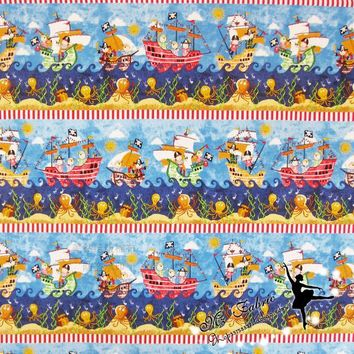 Pirates of the Caribbean Cotton Fabric for Boy Clothes Bedding Set Hometextile Curtain Cushion Cover Sewing-BK152