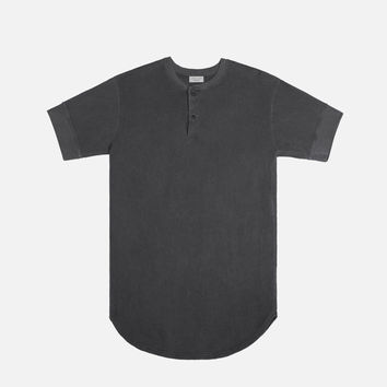 SS Flatback Thermal Henley / Black