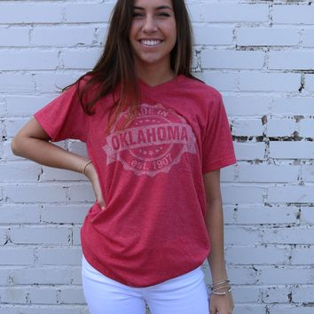 Oklahoma Tee  - Made in Oklahoma Red or Grey