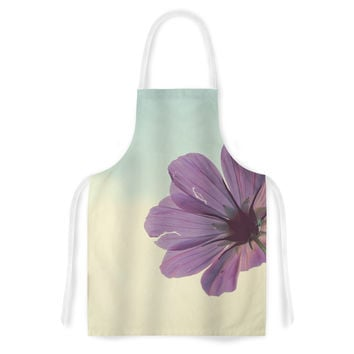 "Beth Engel ""Torn But Never Broken"" Purple Flower Artistic Apron"