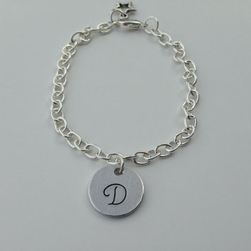 Personalized Monogram Bracelet with small by KennabelleDesigns