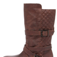 Matisse Rosalie Brown Leather Mid-Calf Boots