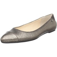 Calvin Klein Women`s Pritah Metallic Cross Hatch Flat,Bronze,5 M US
