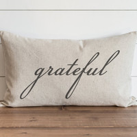 Grateful 16 x 26 Pillow Cover