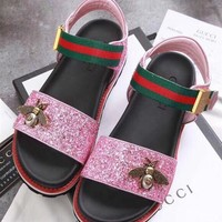 GUCCI Women Bee Glitter Sandal
