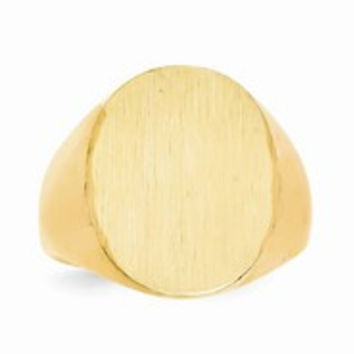 14k Yellow Gold Men's Signet Ring
