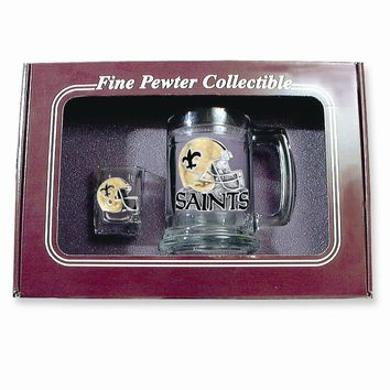New Orleans Saints Shot Glass and Mug Set - Etching Personalized Gift Item