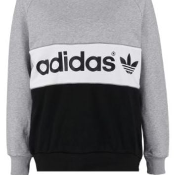adidas Originals CITY - Sweatshirt - medium grey heather/black - Zalando.co.uk