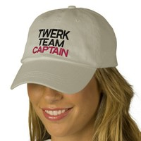 Twerk Team Captain Embroidered Hat from Zazzle.com