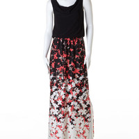 Shadow Floral Maxi Dress