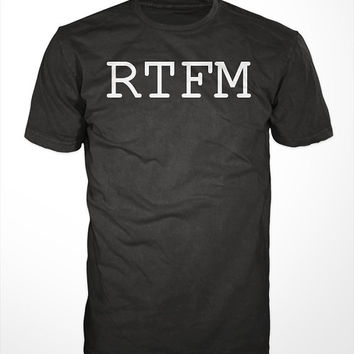 RTFM Funny Geek T-Shirt - read the fucking manual tee shirt, mens, womens, gift, nerdy tshirt, computer programmer, coder, nerd
