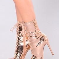 Brandy Booties - Rose Gold